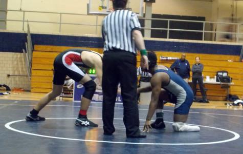 Wrestler puts his best foot forward