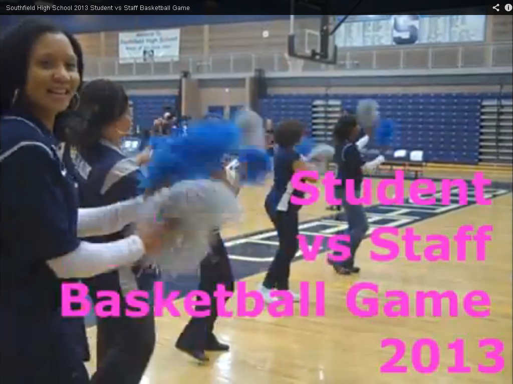 Southfield High School 2013 Student vs Staff Basketball Game .