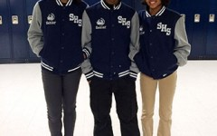 Style File: Seniors Taylor Winslow,, La'Kya Pore and Tiffany Anderson model their personalized senior jackets.
