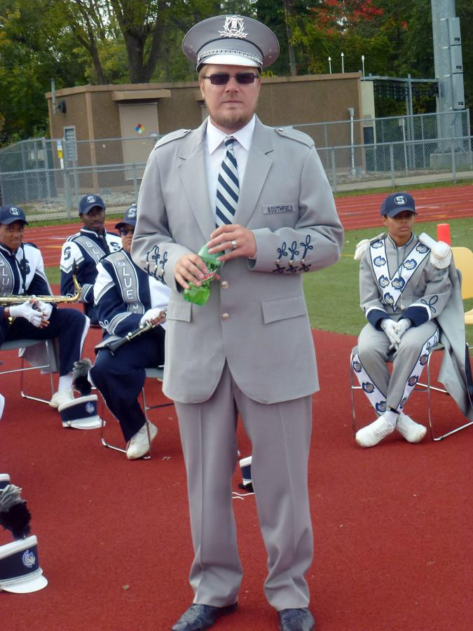 Band Director David Miller took over the Marching Blue Jays when his father retired two years ago.