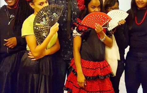 Ramoni Overton, Breanna Cross Adrian Springer, Breanah Boyd and Jordan Nickerson are dressed and ready to learn to Flamenco. Photo By: Timothy  Conley
