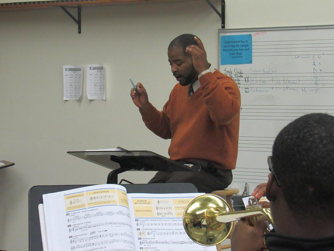 New tunes: Dr. James Charles, formerly band director at Southfield-Lathrup, is the new band director for Southfield A & T - the new school formed by the merger of Southfield High and Southfield-Lathrup.