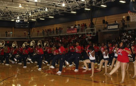Band Celebrates During Pep Rally