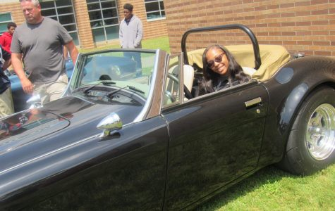 Student Tries Out Classic Car