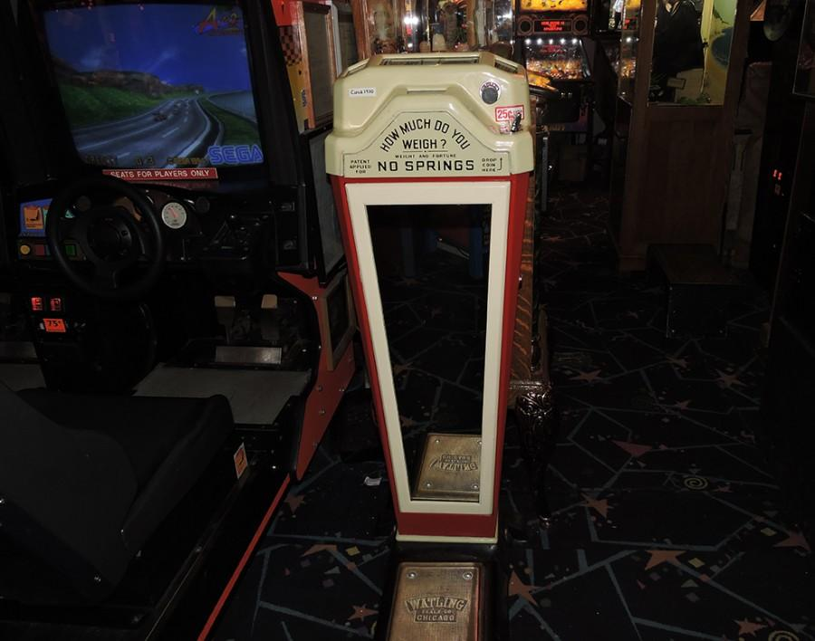 Weigh yourself on a vintage scale at Marvin's. Or not.