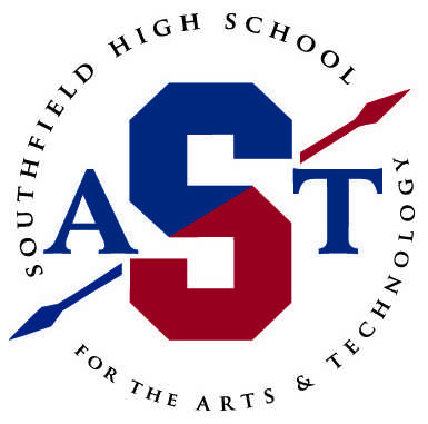 The+new+logo+for+Southfield+High+School+for+the+Arts+and+Technology+features+a+block+%22S%22+pierced+by+a+spear.+The+school%27s+short+name+is+Southfield+A%26T.+It+was+designed+by+Todd+Pearl.