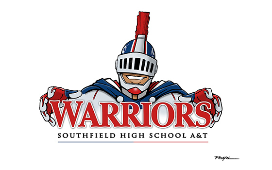 Southfield High School alumnus Todd Pearl said he designed the Warrior mascot to be