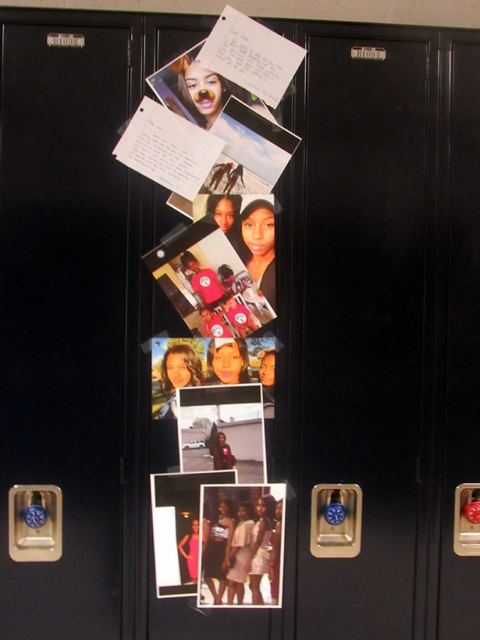 Classmates of the late Kara Allen decorated her locker as a tribute to her.  Allen was a senior.